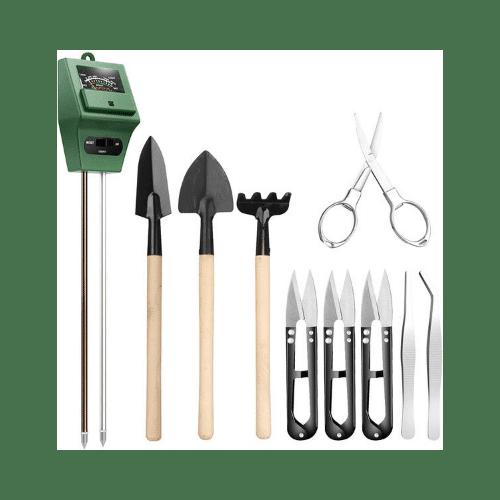 Kit de herramientas para suculentas con medidor de suelo